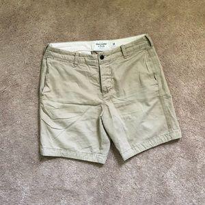 A&F Khaki Shorts